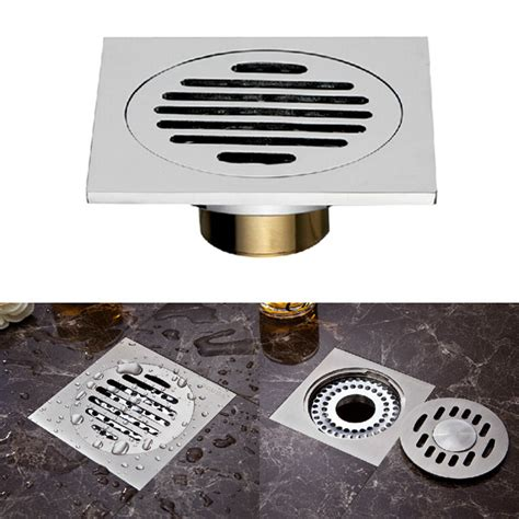 copper square floor drain bathroom anti odor cover alex nld