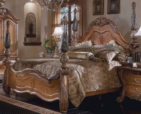 aico furniture bedroom sets aico michael amini quot eden quot marble wood king poster bed discontinued vhtf ebay
