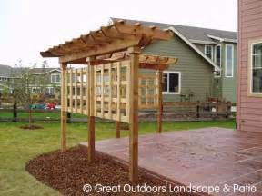 Single Pergola Designs by Denver Colorado Landscaping Pergolas