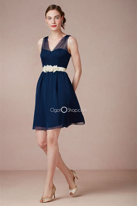 Navy Bridesmaid Dress by Navy Blue Chiffon Bridesmaid Dress Www Imgkid The
