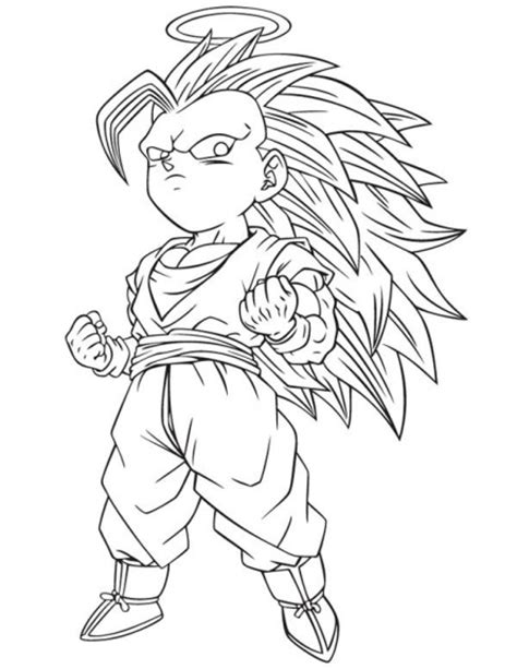 dragon ball z gotenks coloring pages free coloring pages of goten ssj3