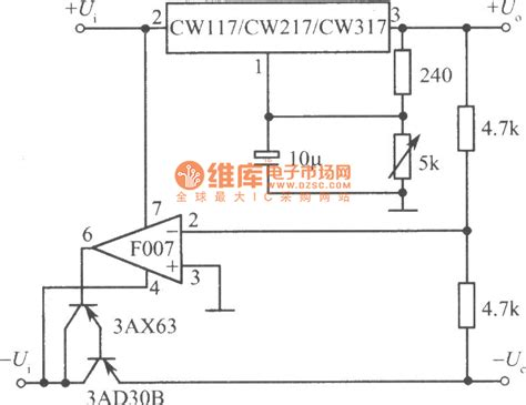power supply integrated circuits positive and negative output voltage tracking regulated power supply integrated circuit diagram