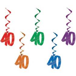 40th birthday hanging whirls 5pack party savers party supplies