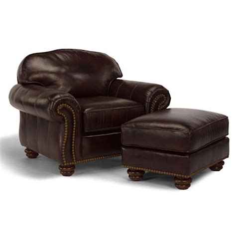 flexsteel bexley leather sofa price flexsteel 3648 10 08 bexley chair and ottoman with nails