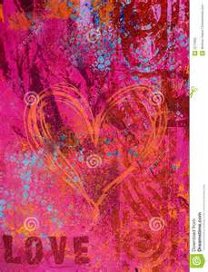 Red Flower Oil - artwork background love stock photography image 3711882