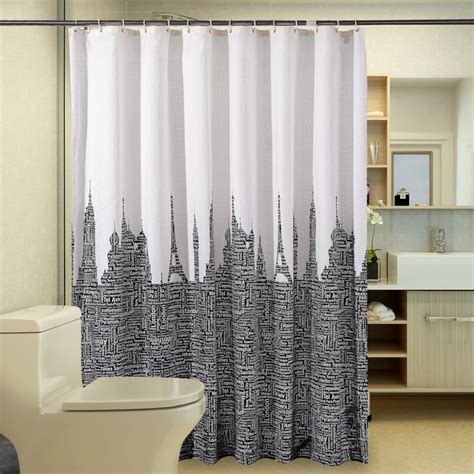 black white shower curtains waterproof bathroom curtains white black polyester shower