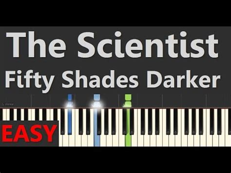 tutorial piano the scientist the scientist easy piano tutorial from fifty shades