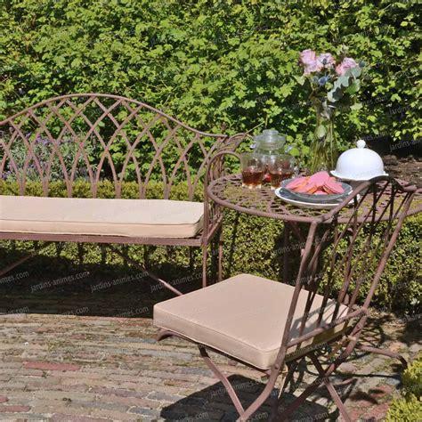 Salon De Jardin Acier by Salon De Jardin En Acier Style Fer Forg 233 Mobilier