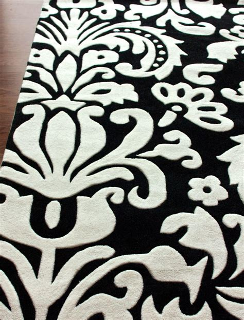 damask black and white rug black and white damask rug best decor things