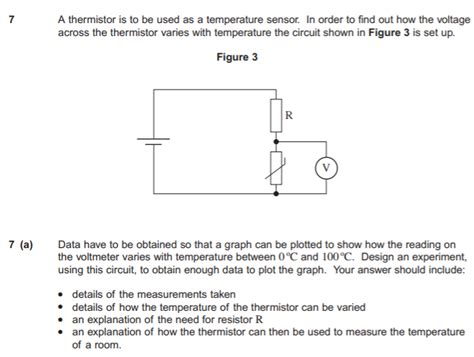 thermistor and resistance experiment homework and exercises why is a series resistor needed in a simple thermistor experiment