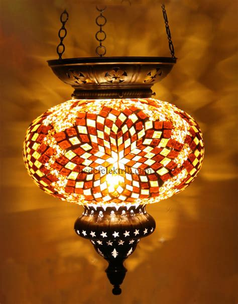 Turkish Pendant Light Mosaic Colourfull Turkish Style Glass Pendant 22cm Pendant Lighting Other Metro By Hedef