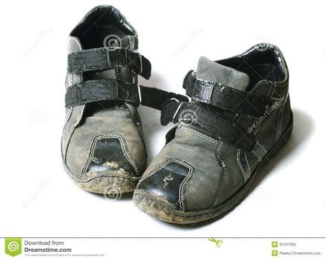 Shoe Unlimited Sr 5003 Black shoes stock image image of grunge poor damaged 31447925