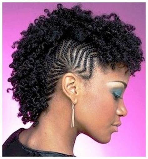 mohawk hairstyles for black with braids three