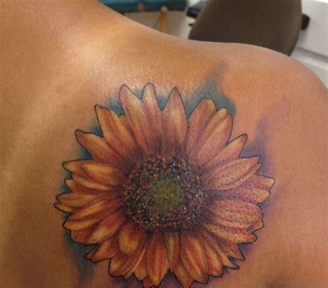 85 pretty sunflower tattoos designs for back