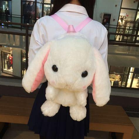 Bunny Backpacker Bag lop rabbit plush doll backpack messenger bag on storenvy