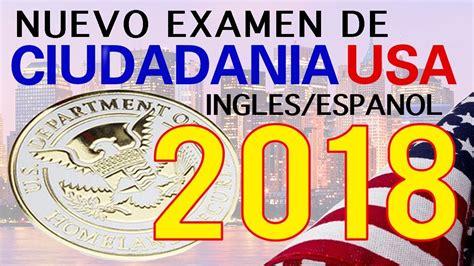 preguntas en ingles y espanol de la ciudadania examen de ciudadania americana 2018 ingles espa 209 ol