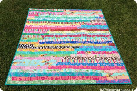 Jelly Rolls Quilt by The Crafty Chemist The Jelly Roll Race Quilt