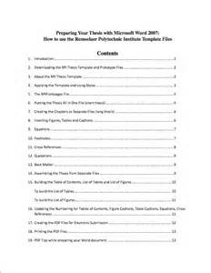 List Of Contents Template 20 Table Of Contents Templates And Examples Template Lab