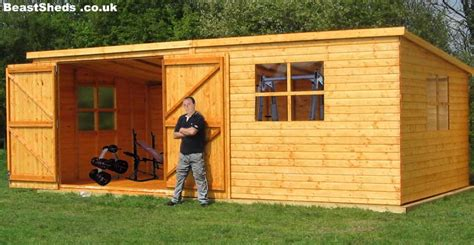 gym sheds garden gyms   uk delivery  fitting