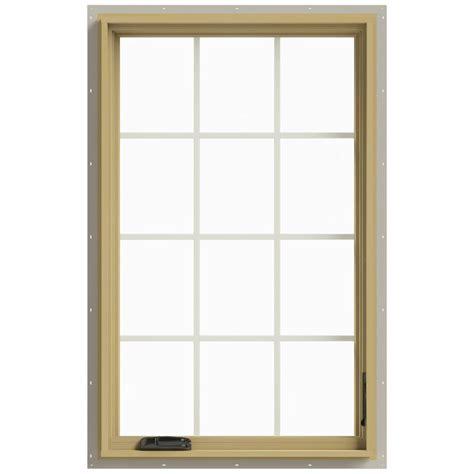 Jeld Wen Aluminum Clad Wood Windows Decor Jeld Wen 30 In X 48 In W 2500 Right Casement Aluminum Clad Wood Window Thdjw140100463