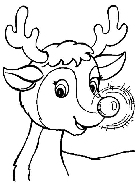 Christmas Reindeer Coloring Pages Coloringpages1001 Com Printable Coloring Pages Reindeer