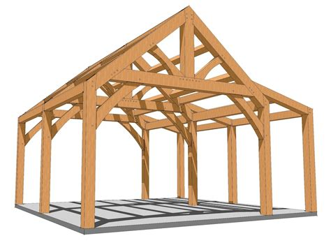 Shed Roof Timber by 20x20 King Post With Shed Roof Plan Timber Frame Hq