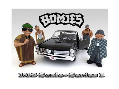 Hommies Figure Diorama Diecast Wheels Wolfe quot homies quot figure set of 4pc for 1 18 scale diecast model cars by american diorama