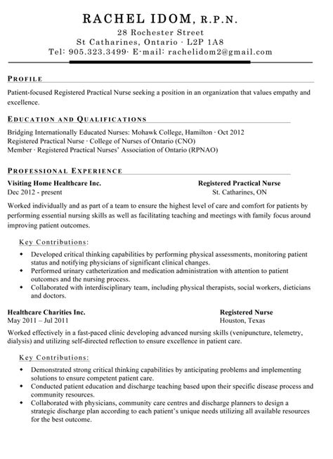 resume cover letter exles nursing resume hq