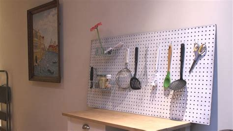 diy kitchen pegboard a beautiful mess diy pegboard to declutter any kitchen video abc news