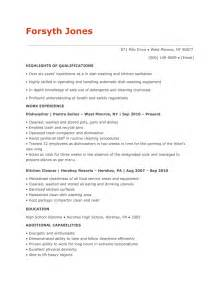 dishwasher resume sle dishwasher sle resumes resume with references sle