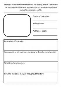 character biography template year 3 literacy hw character profile template by