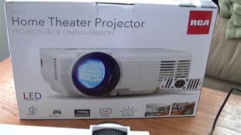 rca home theater projector rpj part  setup  hands