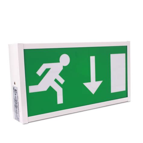 exit sign light box 8w fire exit sign pico pic8 from 38 45 ex vat