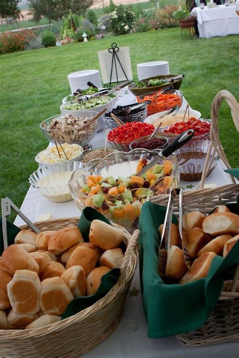 Backyard Wedding Buffet Ideas Backyard Wedding Build A Garden Salad Just Need
