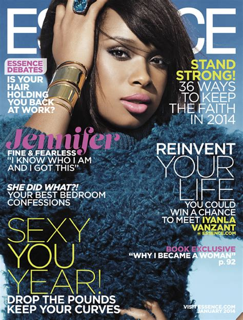 Hudson On The Cover Of Magazine by Hudson Poses As Cover For Essence Magazine S