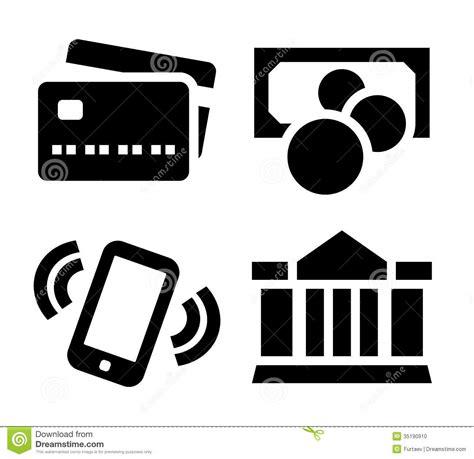 Set Aa Black White payment icon set stock photo image 35190910