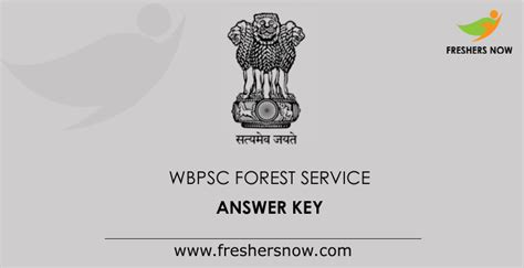 wbpsc forest service answer key   west bengal exam key