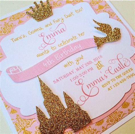 Setelan Motif Princess 8 princess invitations gold and pink invitations gold crown invite 1st birthday