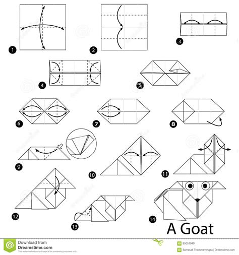 How To Make A Paper Goat - how to make a paper goat 28 images 3d origami goat