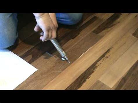 how to repair a popping floor glue or floating part