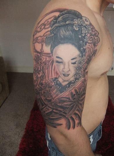 geisha tattoo miami ink unique unique grey ink geisha tattoo design