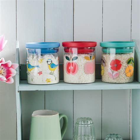 mid century poppy glass storage jar rex at