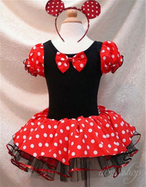 Setelan Anak Minnie Polka 3in1 disney minnie mouse pary costume ballet tutu dress 2 10y for sale