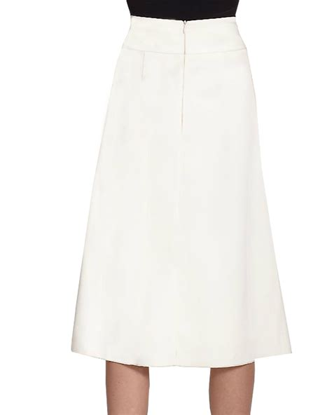 high waist a line skirt with box pleat elizabeth s