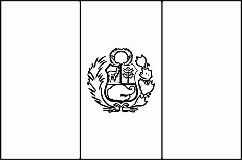 Peru Flag Coloring Page Free Coloring Home Peru Flag Coloring Page