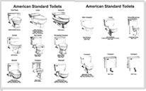 american standard toilet tank replacement parts