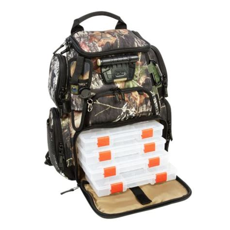 camo fishing backpack river 174 tackle tek recon mossy oak camo lighted