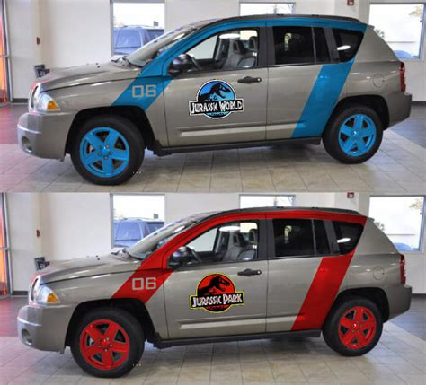 jurassic jeep blue jurassic park jeep view topic jp or jw 09 jeep compass
