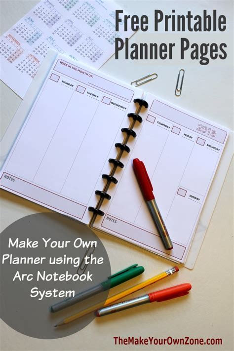 create your own printable planner free 2018 free printable planner pages the make your own zone
