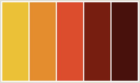 a shade of vire 2 a shade of blood colorcombo304 with hex colors ebc137 e38c2d db4c2c